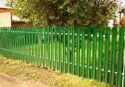 Забор из штакетника металлического монтируется своими руками!!!
