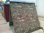 забор из металлопрофиля (профнастила)