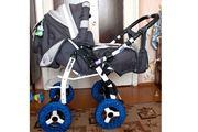 Продается коляска-трансформер Adamex Galaxy в идеальном состоянии