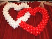 Сердце из шаров,  шариков. Подарки клиентам!