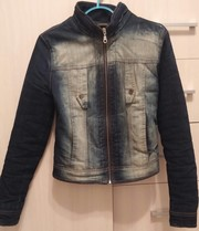Женская куртка джинсовая утепленная