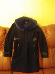 пальто демисезонное  чёрное