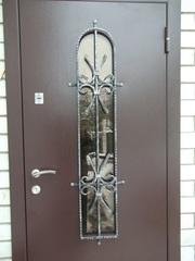 Входные двери утеплённые не стандарт цельно гнутые с установкой