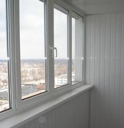 Балконная рама ПВХ (Окна,  двери,  офисные перегородки ПВХ)