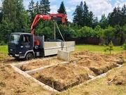 Монтаж фундамента из блоков в Кричеве